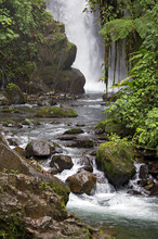 Tropical River With Waterfall Taken In Costa Rica