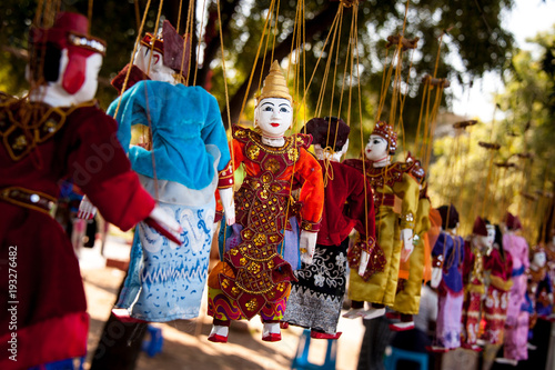traditional puppet - Bagan - Myanmar Canvas Print