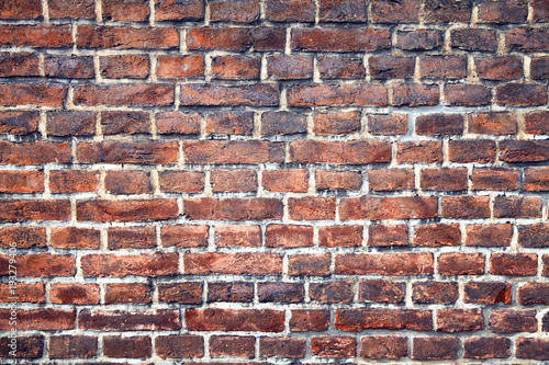 Poster Baksteen muur Brick old texture wall for background design or abstract photo