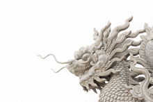 Chinese Dragon Head Statue Iso...