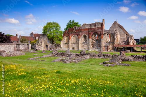 Aluminium Prints Delhi St Augustines Abbey Benedictine monastery remains in Canterbury Kent Southern England UK