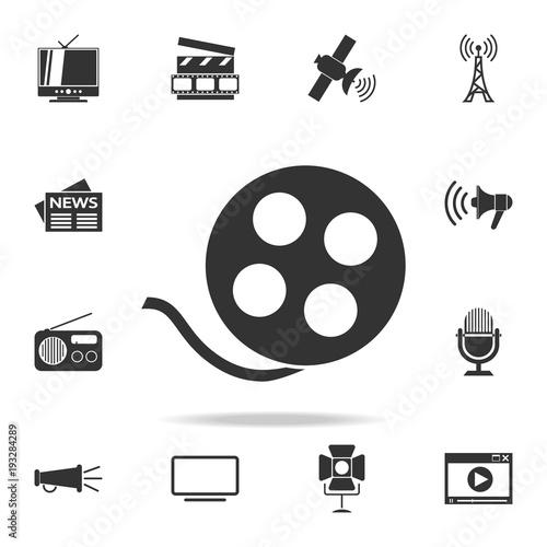Billede på lærred video tape icon