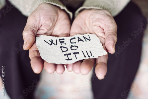old woman and the text we can do it Poster