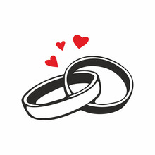 Wedding Rings. Vector Icon