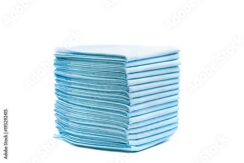 pile of toilet diapers for pets isolated on white Wallpaper Mural