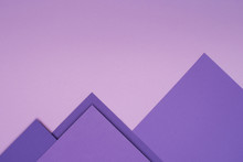 Purple Paper Mountains On Ligh...