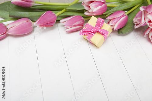 Fotografie, Obraz  Gift Background with Flowers