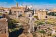 The Roman Forum (Foro Romano) and Roman ruins as seen from the Palatine Hill, Roma, Italy
