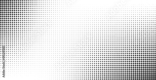 Fotografía  Halftone effect vector background