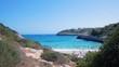 Beautiful bay of Cala Anguila with a wonderful turquoise sea, Porto Cristo, Majorca, Spain