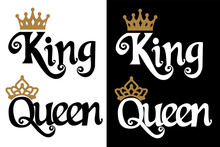 King And Queen - Couple Design...
