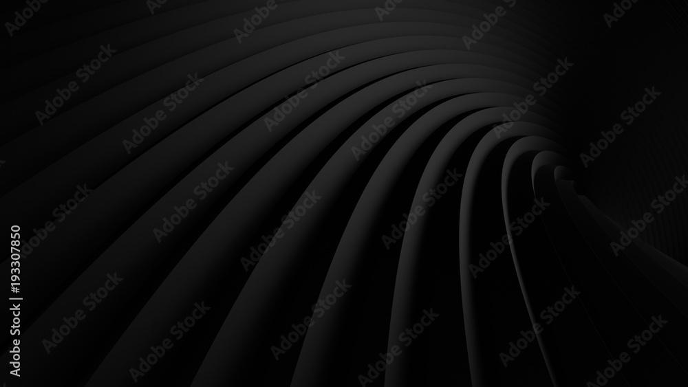 Fototapeta abstract Illustration. luxurious black line background