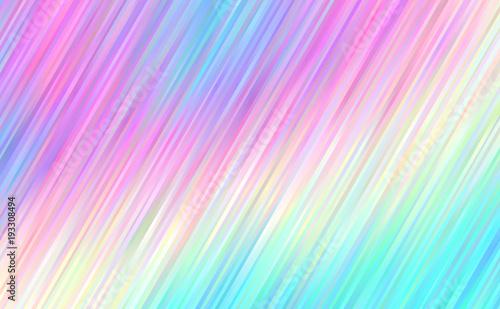 Pastel Summer Neon Gradient: Holographic Gradient Stripes Vector Background. Pastel