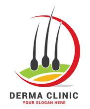 Hair Care Dermatology Logo Ico...