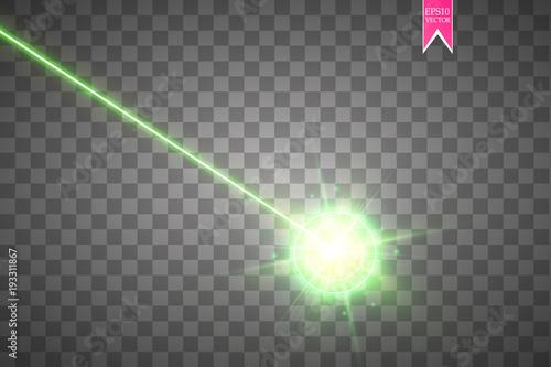 Fotografie, Obraz  Abstract green laser beam