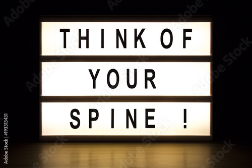 Fotomural Think of your spine light box sign board