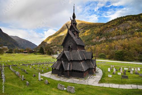 Foto op Aluminium Scandinavië Borgund Stave Church