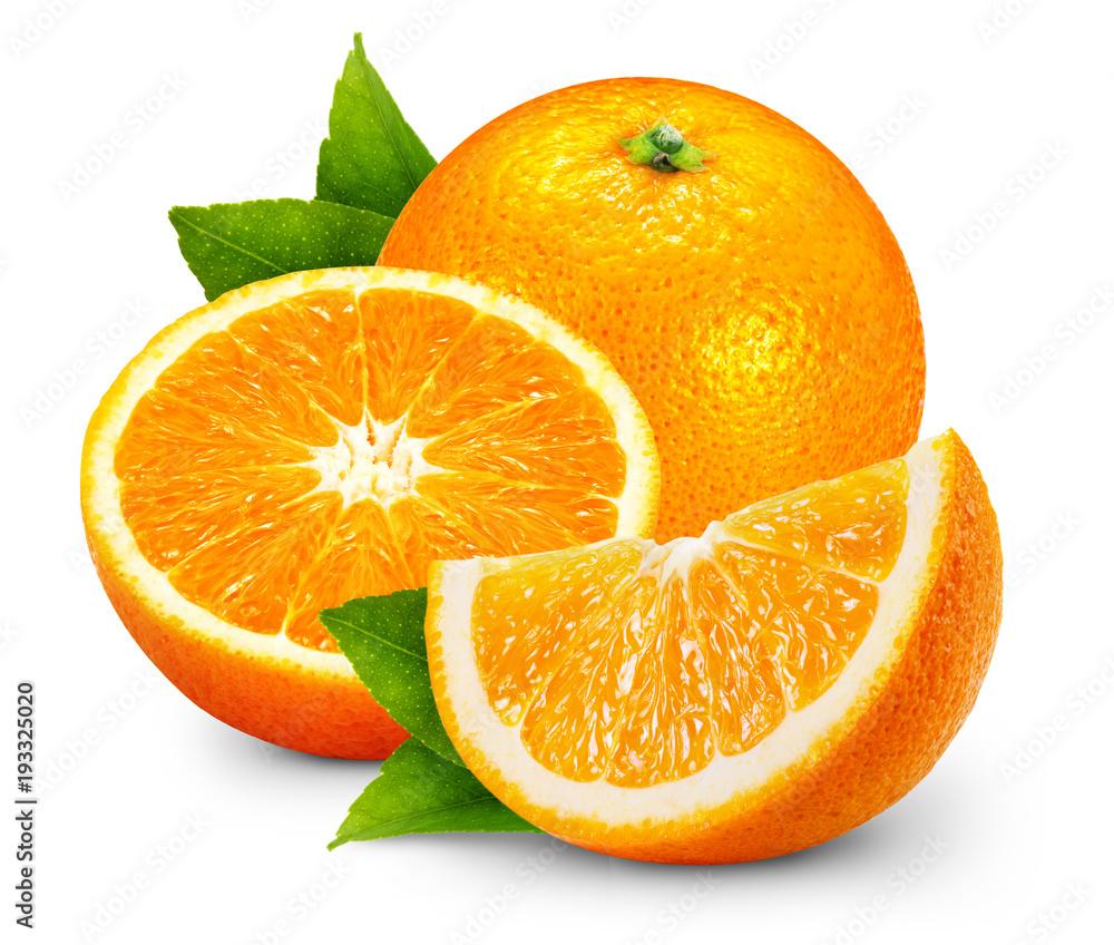 Fototapeta orange fruits with leaf