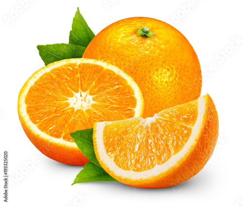 orange fruits with leaf