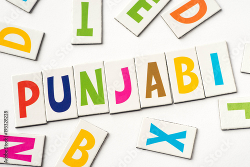 Foto  word punjabi,  made of colorful letters