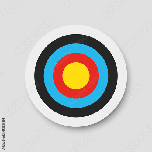 Fotografía  Archery target. Vector illustration