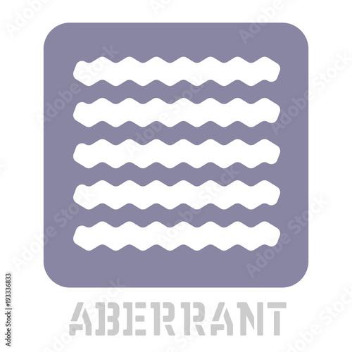 Photo Aberrant conceptual graphic icon