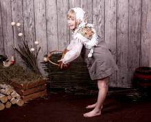 Village Girl With Eggs In The ...