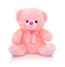 Cute Pink Bear Doll With Bow I...
