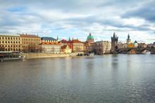 Vltava River And Charles Bridg...