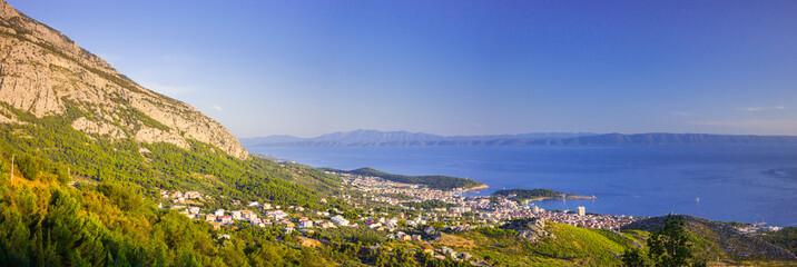 Panorama of Croatia coast, landscape