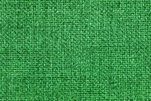 Green Fabric Closeup Pattern Texture.
