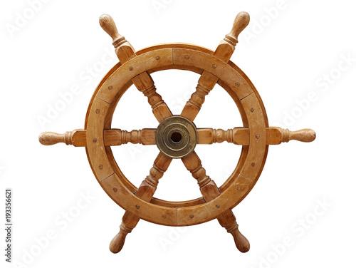 Papiers peints Navire Old wooden ships helm wheel