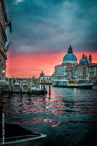 Plakat Piękny wschód słońca Wenecja