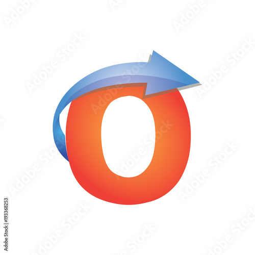 O Letter Arrow Logo Element Buy This Stock Vector And Explore
