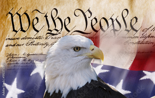 Poster Aigle We the People.