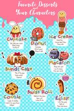 Desserts In Characters Illustr...