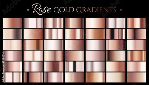 Poster Metal Rose gold color gradient