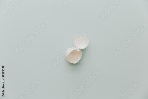 Fotobehang Macarons Eggs shell ion pastel background