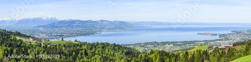 Foto op Plexiglas Panoramafoto s Blick auf die östliche Bodensee-Region