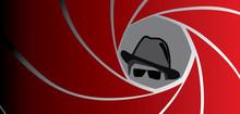 Silhouette Of Spy, Secret Agen...