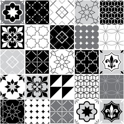 portugalski-plytki-azulejos-bez-szwu-wektor-wzor-plytki-geometryczny-i-kwiatowy-wzor-czarny