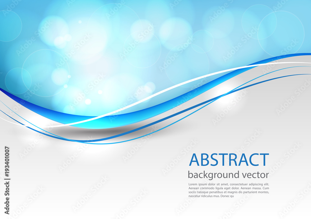 Fototapeta Blue line abstract background. Vector illustration.