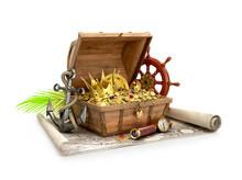 Treasure Chest. 3D Illustration