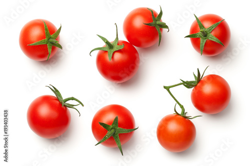 Pinturas sobre lienzo  Cherry Tomatoes Isolated on White Background