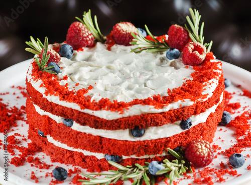 Plakat ciasto Red Velvet