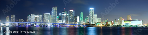 Tuinposter Verenigde Staten Downtown skyline, Miami, Florida, USA