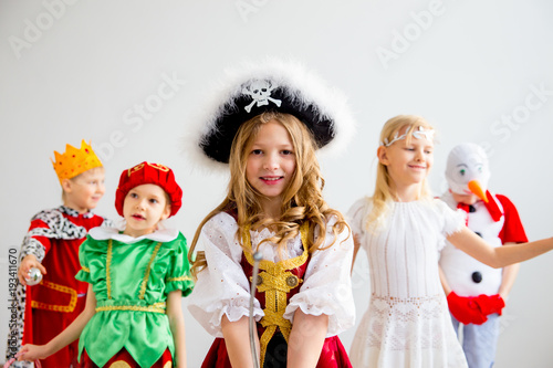 Vászonkép Kids costume party