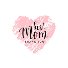 Happy Mother's Day Card, Badge...