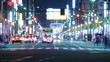 東京 浅草 タイムラプス 夜景