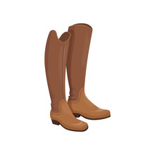 Brown Leather Horseman Boots, ...